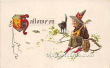 hol011050 - Halloween Postcard Old Vintage Post Card