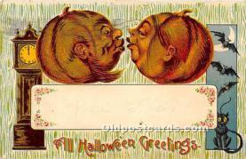 hol011055 - Halloween Postcard Old Vintage Post Card