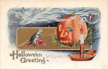 hol011059 - Halloween Postcard Old Vintage Post Card