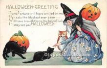 hol011061 - Halloween Postcard Old Vintage Post Card