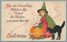 hol011063 - Halloween Postcard Old Vintage Post Card
