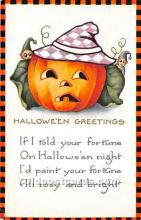 hol011075 - Halloween Postcard Old Vintage Post Card