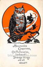 hol011131 - Halloween Postcard Old Vintage Antique Postcard Post Card