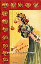 Artist E.C. Banks Halloween Postcard