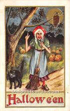 hol011136 - Halloween Postcard Old Vintage Antique Postcard Post Card