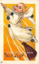 hol011144 - Halloween Postcard Old Vintage Antique Postcard Post Card