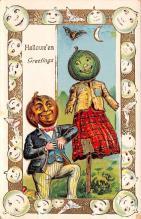 hol012005 - Halloween Post Card Old Vintage Antique