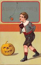 hol012009 - Halloween Post Card Old Vintage Antique