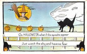 hol012019 - Halloween Post Card Old Vintage Antique