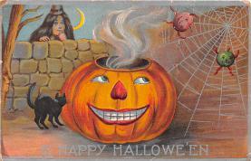 hol012021 - Halloween Post Card Old Vintage Antique