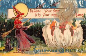 hol012027 - Halloween Post Card Old Vintage Antique