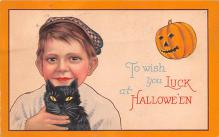 hol012033 - Halloween Post Card Old Vintage Antique
