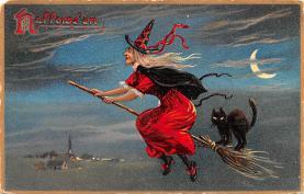 hol012051 - Halloween Post Card Old Vintage Antique
