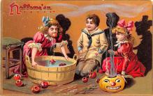 hol012063 - Halloween Post Card Old Vintage Antique