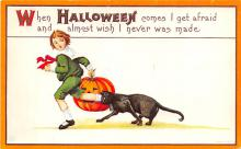 hol012065 - Halloween Post Card Old Vintage Antique