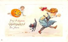 hol012067 - Halloween Post Card Old Vintage Antique