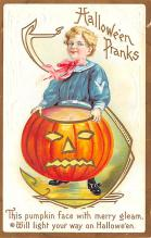 hol012069 - Halloween Post Card Old Vintage Antique