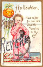 hol012071 - Halloween Post Card Old Vintage Antique