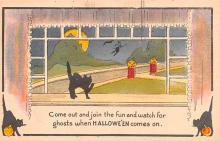 hol012073 - Halloween Post Card Old Vintage Antique