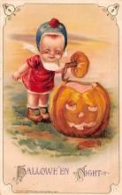 hol012077 - Halloween Post Card Old Vintage Antique