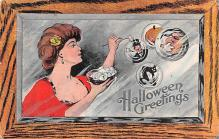 hol012103 - Halloween Post Card Old Vintage Antique