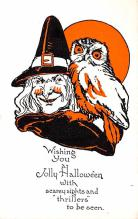 hol012113 - Halloween Post Card Old Vintage Antique