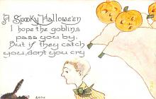 hol012117 - Halloween Post Card Old Vintage Antique