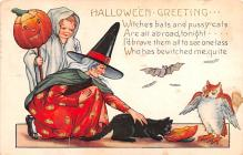 hol012127 - Halloween Post Card Old Vintage Antique