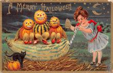 hol012137 - Halloween Post Card Old Vintage Antique