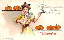 hol012147 - Halloween Post Card Old Vintage Antique