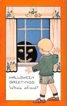 hol012149 - Halloween Post Card Old Vintage Antique