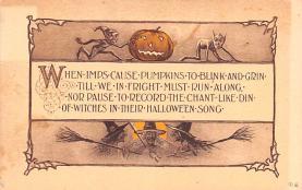 hol012151 - Halloween Post Card Old Vintage Antique
