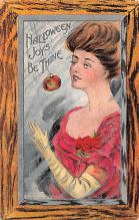 hol012153 - Halloween Post Card Old Vintage Antique