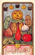 hol012159 - Halloween Post Card Old Vintage Antique