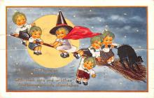 hol012167 - Halloween Post Card Old Vintage Antique