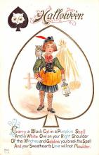 hol012175 - Halloween Post Card Old Vintage Antique