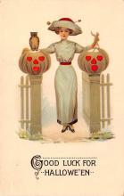 hol012181 - Halloween Post Card Old Vintage Antique