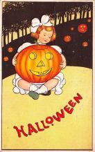 hol012183 - Halloween Post Card Old Vintage Antique