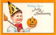 hol012203 - Halloween Post Card Old Vintage Antique