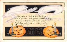 hol012211 - Halloween Post Card Old Vintage Antique