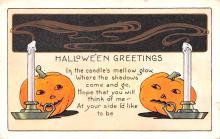 hol012217 - Halloween Post Card Old Vintage Antique