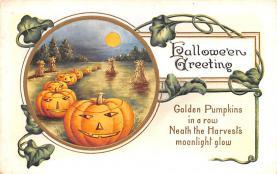 hol012219 - Halloween Post Card Old Vintage Antique