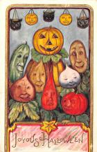 hol012225 - Halloween Post Card Old Vintage Antique