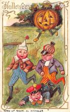 hol012231 - Halloween Post Card Old Vintage Antique