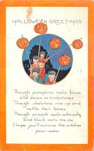 hol012235 - Halloween Post Card Old Vintage Antique