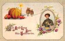 hol012239 - Halloween Post Card Old Vintage Antique