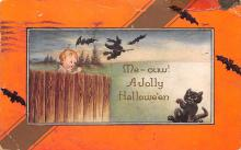 hol012243 - Halloween Post Card Old Vintage Antique