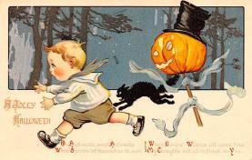 hol012249 - Halloween Post Card Old Vintage Antique