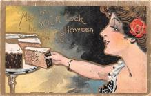 hol012253 - Halloween Post Card Old Vintage Antique