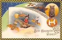hol012257 - Halloween Post Card Old Vintage Antique